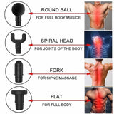Muscle Massager Gun - 3-speed & 4-in-1 Deep Tissue Massage Relieves Muscle Soreness and Stiffness - Health and Beauty