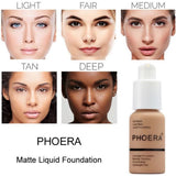 PHOERA Soft Matte Liquid Foundation - Health and Beauty