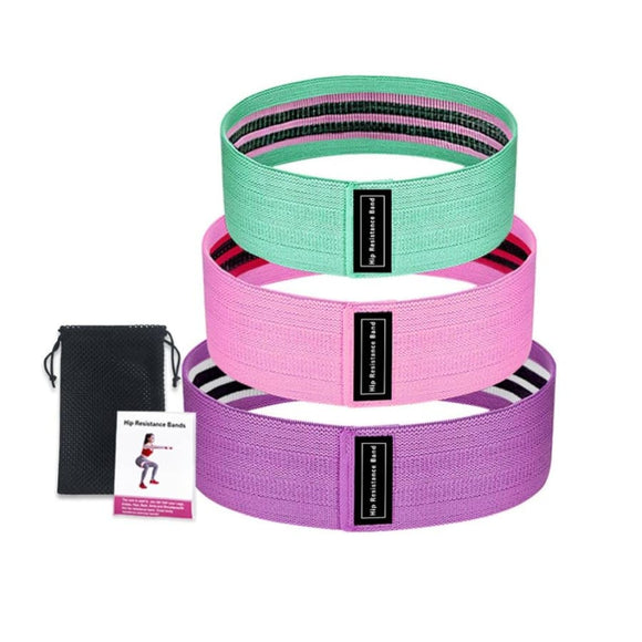 Premium Hip Resistance Bands (Set of 3) - With Logo