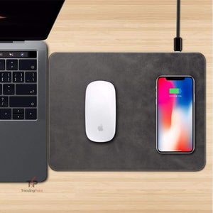 QuikCharge™ Luxury Leather Wireless Charger Mouse Pad