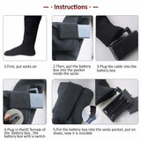 Rechargeable Heated Electric Socks Battery Powered - Health and Beauty