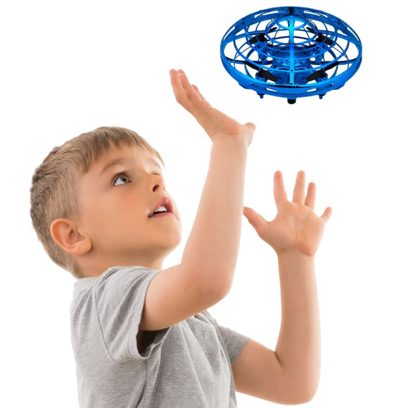 Scoot Hand Operated Mini Drone - Easy Indoor Flying Ball Drone (4 colors) - Blue - Baby & Kids