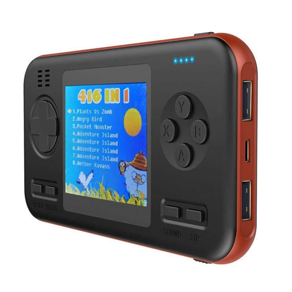 The Gamer Bank Portable Charger Gaming Console - Orange/Black - Electronics