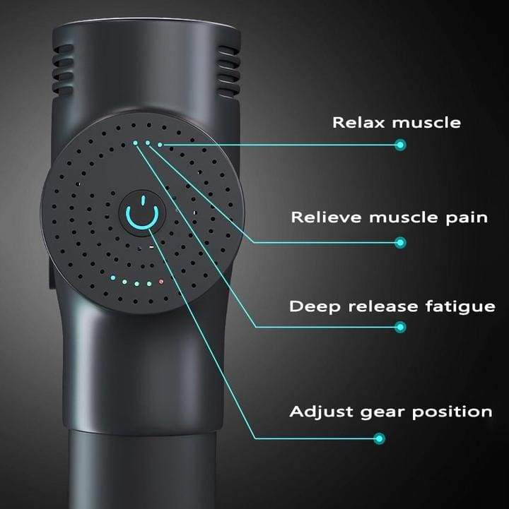 Muscle Massager Gun - 3-speed & 4-in-1 Deep Tissue Massage Relieves Muscle Soreness and Stiffness