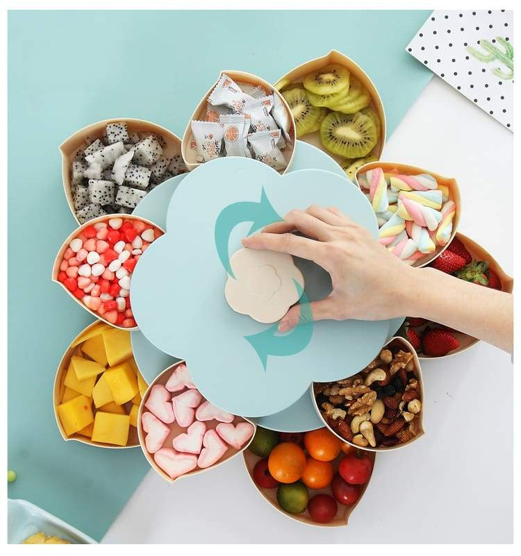 Flower Shaped Storage Box for Seeds Nuts Candy Dry Fruits and more.