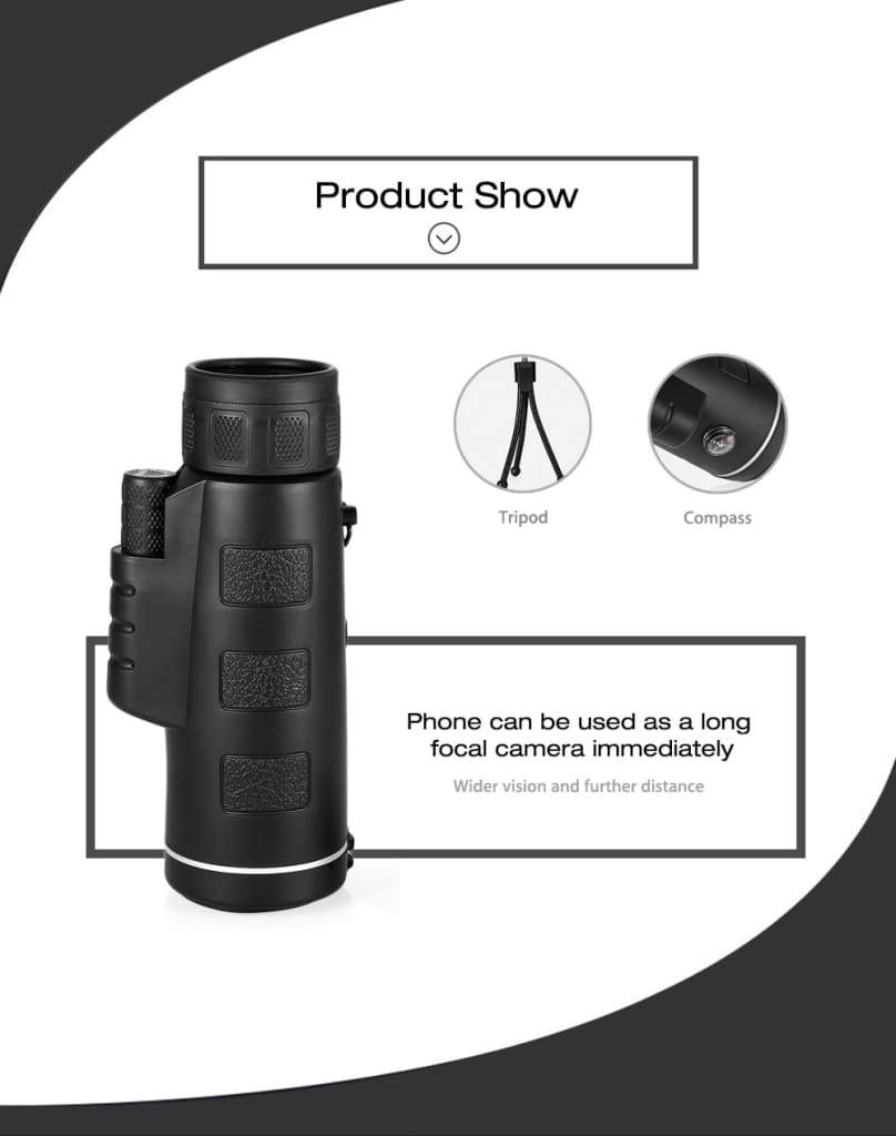 40X60 HD Monocular Telescope INTELLI-ZOOM