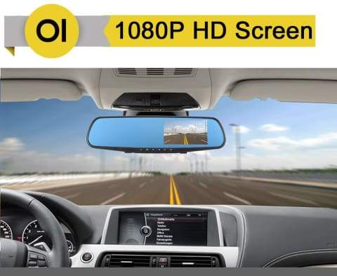 DashPro Dual Lens Dash Cam - Front & Rear 1080P HD Video Recorder