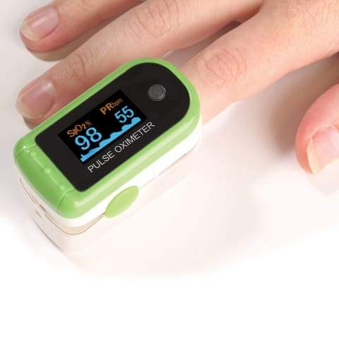 Digital Fingertip Pulse Oximeter & Blood Saturation Oxygen Meter