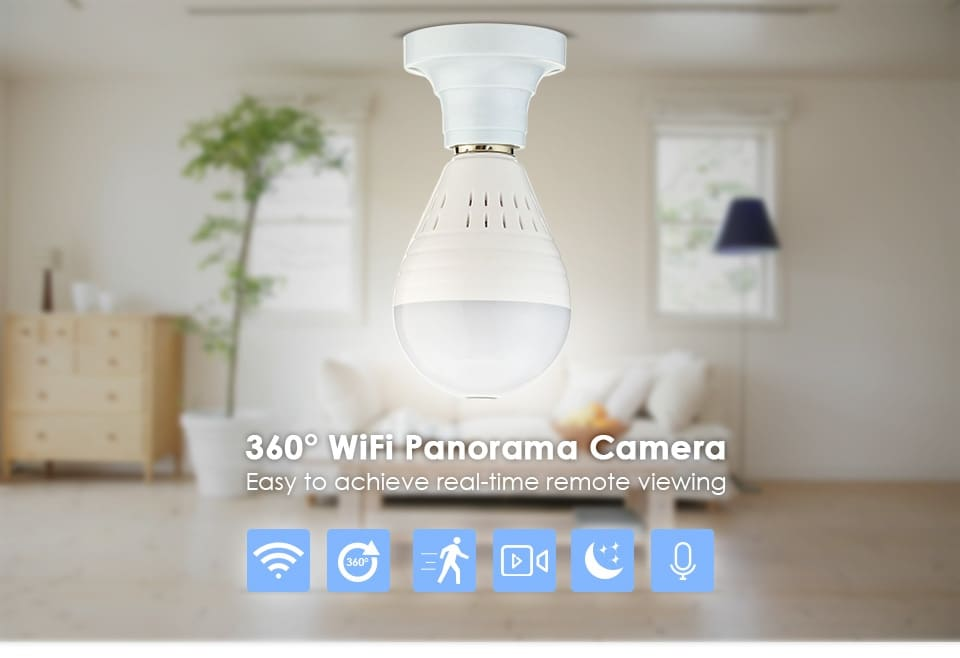 WiFi Light Bulb Security Camera - NEW MODEL
