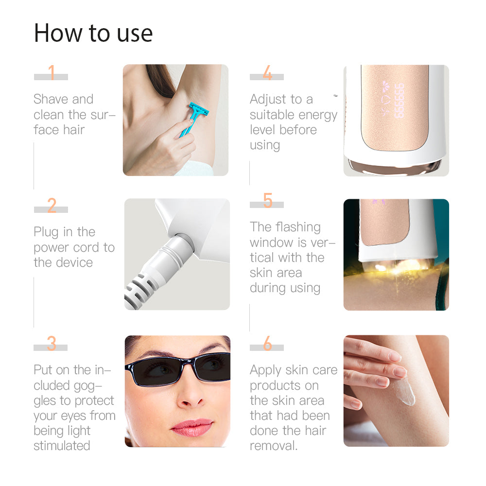 IPL Hair Removal 999999 Flashes Replaceable Head