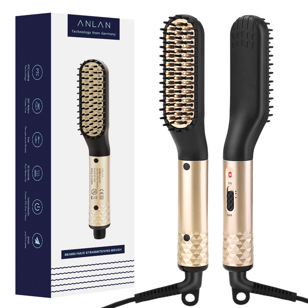 anlan Heated Straight Hair Brush