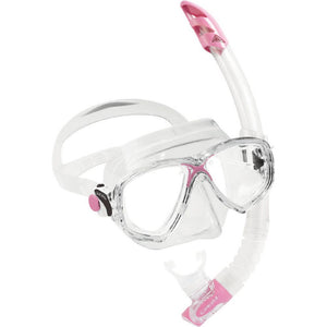 Cressi Marea VIP Mask and Snorkel Set clear pink