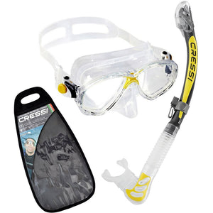 Cressi Marea Mask and Dry Snorkel Set Yellow