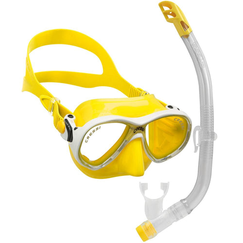 Cressi Marea Junior Mask and Snorkel Set yellow