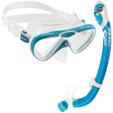 Load image into Gallery viewer, Cressi Pegaso Mask and Snorkel Set Blue
