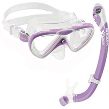 Load image into Gallery viewer, Cressi Pegaso Mask and Snorkel Set Lilac