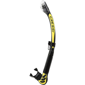 Cressi Alpha Ultra Dry Snorkel Black Yellow