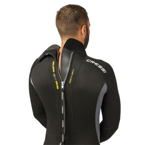 Cressi Fast Wetsuit 5mm one piece neoprene suit back view