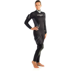 Cressi Ice Lady Wetsuit 7mm semidry suit with hood and pocket icelady women