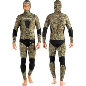 Cressi Tecnica 5mm Camo open cell 2 pieces Freediving Spearfishing front view
