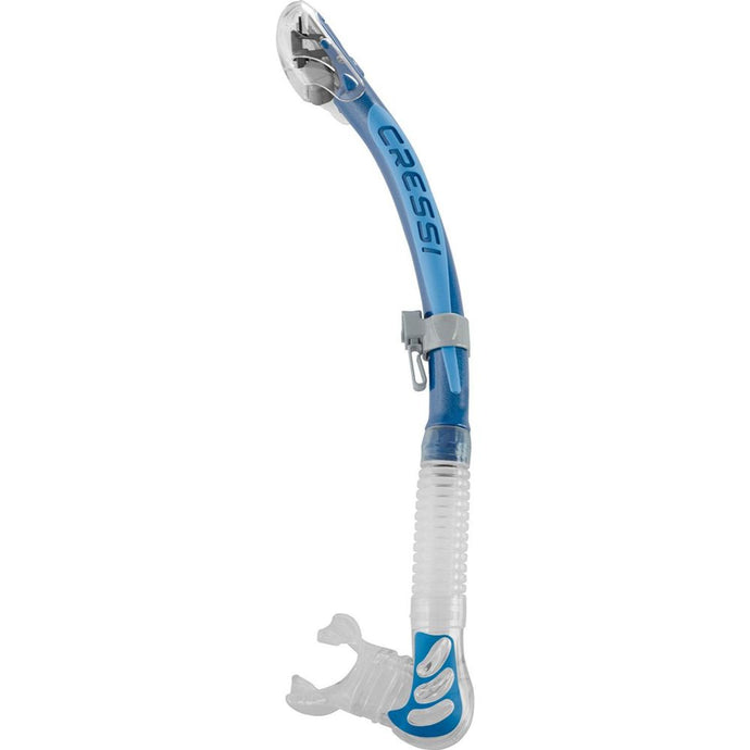 Cressi Alpha Ultradry Snorkel Clear Blue