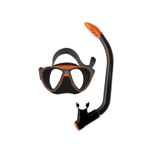 oceanpro junior youth mask and snorkel set orange