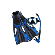 Load image into Gallery viewer, oceanpro ceduna mask snorkel fin set blue