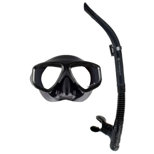 eclipse mask snorkel set black black