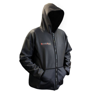 sharkskin chillproof jacket with hood black