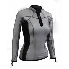 Load image into Gallery viewer, Sharkskin Chillproof Long Sleeve Chest Zip Reflective female women