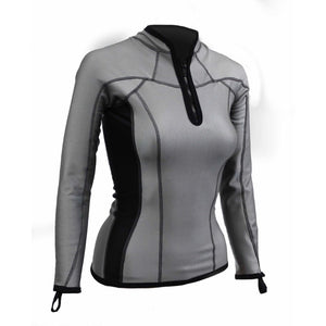 Sharkskin Chillproof Long Sleeve Chest Zip Reflective female women