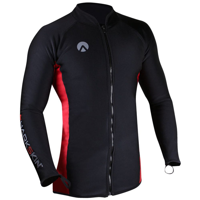 Sharkskin Chillproof Long Sleeve Front Zip front view
