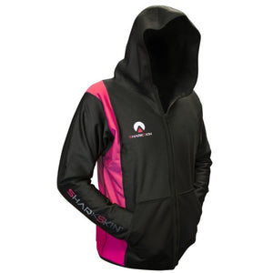 sharkskin chillproof jacket with hood pink