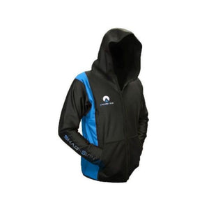 sharkskin chillproof jacket with hood blue