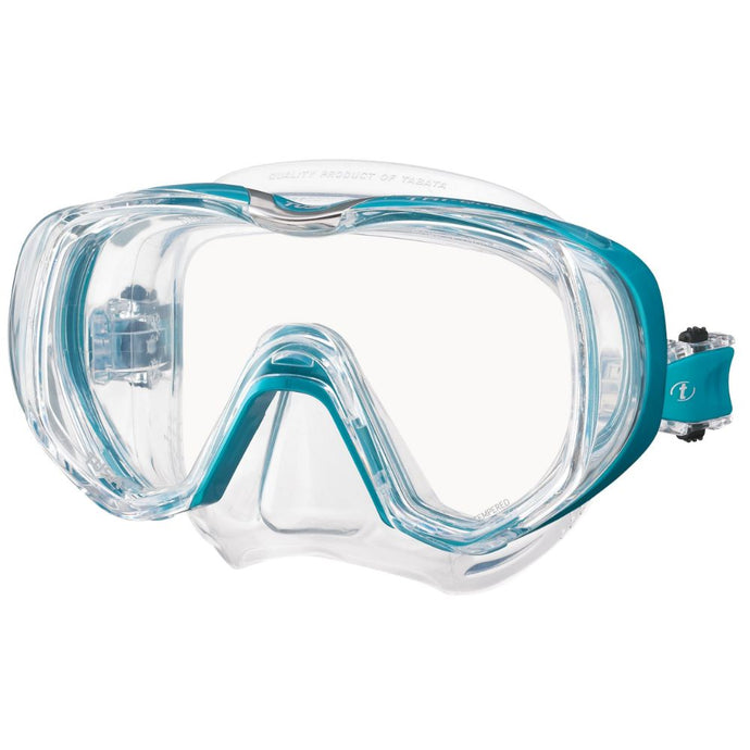 tusa freedom triquest mask clear ocean green