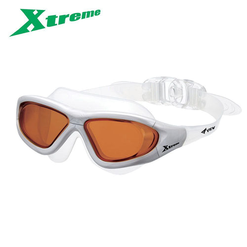 View X-Treme Swimming Goggle bronze silver