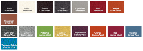 fabric options for the cite aa flat chair