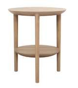 ethnicraft oak bok side table, Ø 17"