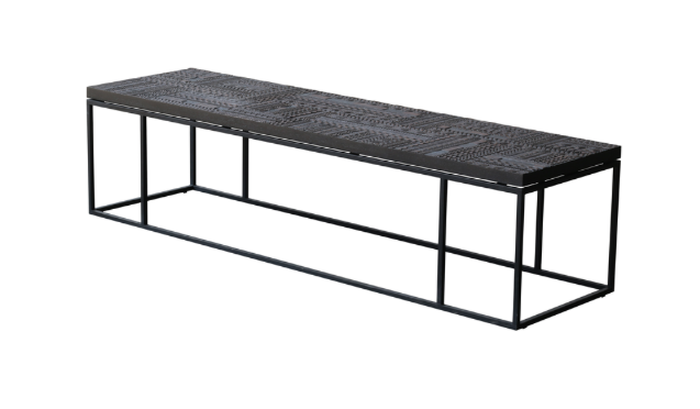 ethnicraft teak tabwa bench, finish: varnished, L 55"
