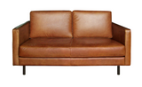 ethnicraft n501 sofa, 2 seater, old saddle, W 61"