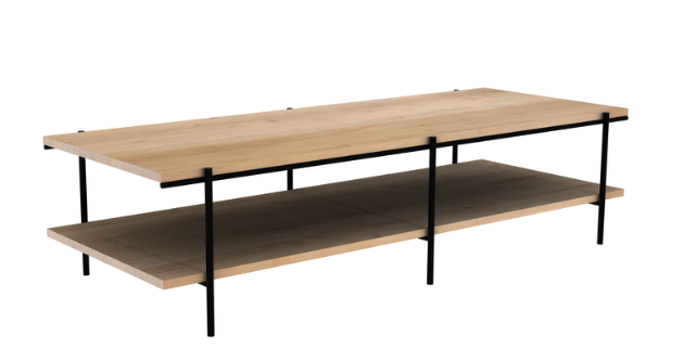 ethnicraft oak rise coffee table - varnished, L 59"