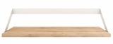 ethnicraft oak ribbon shelf, white, L 28"