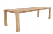 ethnicraft oak slice extendable dining table - legs 10 x 10 cm - L 63/92"
