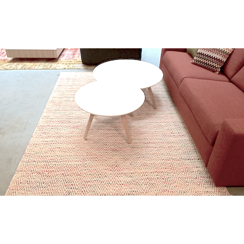 miinu newave rug, multi red