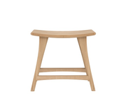 ethnicraft contract/ commercial varnished oak osso stool, low, L 20"