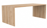 ethnicraft oak U desk, W 79"