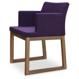 cite so sled wood arm chair