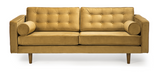 ethnicraft n101 sofa, 3 seater, gold velvet, W 80"
