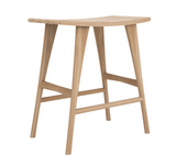 ethnicraft oak osso high stool - finish: varnished, L 22"