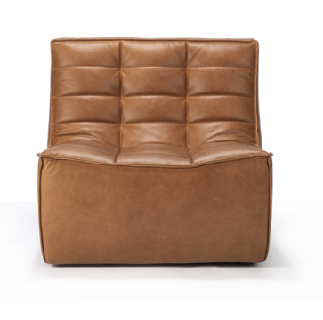 ethnicraft n701 sofa, 1 seater, old saddle leather, W 31"